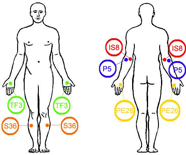 localizarea zonelor de presopunctura pe corpul uman